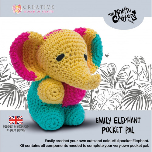 Emily Elephant Pocket Pals by Knitty Critters
