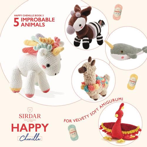 Sirdar Happy Chenille Book 3 - Improbable Animals - Amigurumi