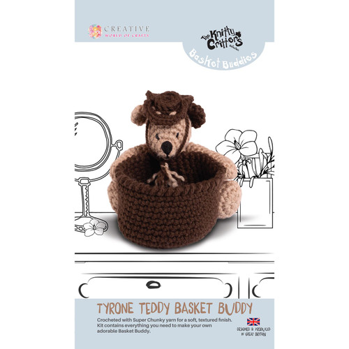 Knitty Critters Basket Buddies - Tyron Teddy