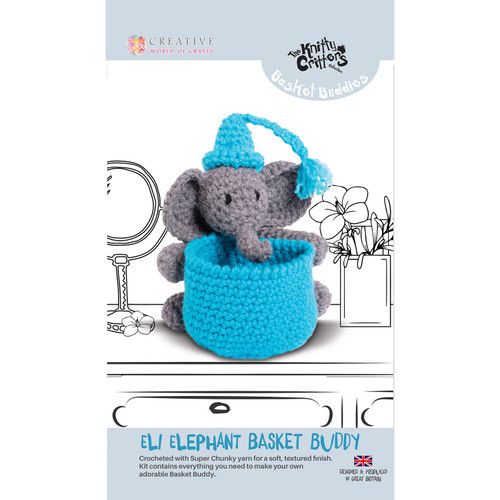 Knitty Critters Basket Buddies - Eli Elephant