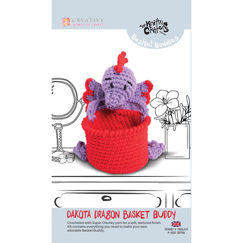 Knitty Critters Basket Buddies - Dakota Dragon