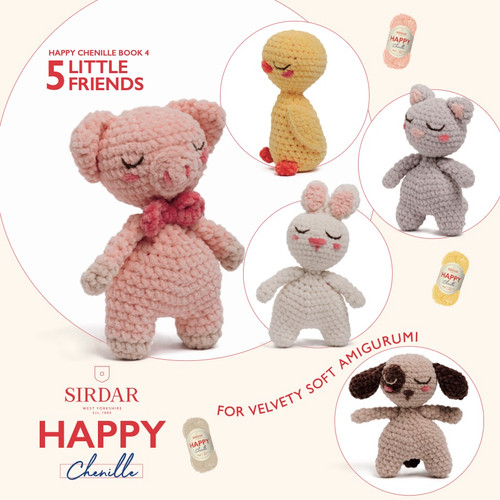 Sirdar Happy Chenille Book 4 - Little Friends - Amigurumi