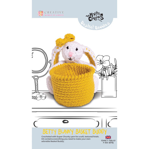 Knitty Critters Basket Buddies - Betty Bunny