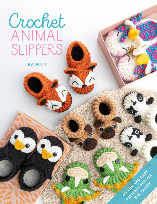 Crochet Animal Slippers by Ira Rott