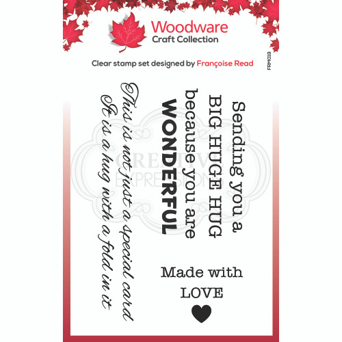 Woodware Clear Singles Big Hugs Stamp