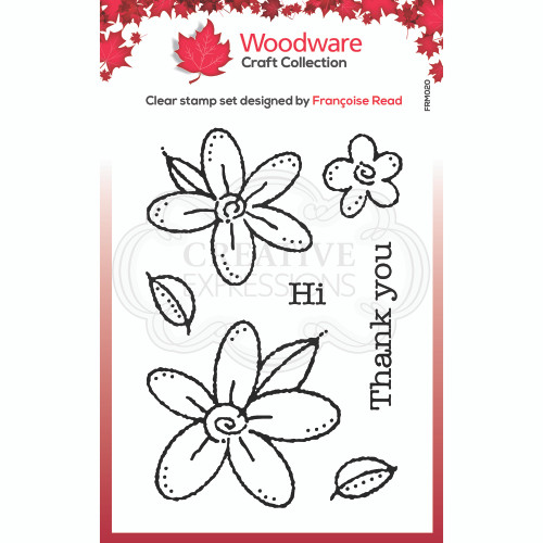 Woodware Clear Singles Daisies Stamp