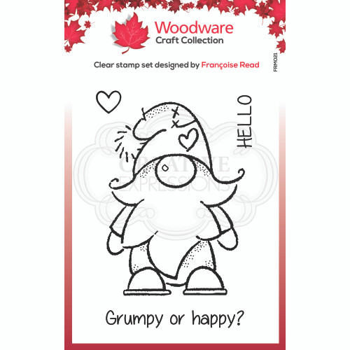 Woodware Clear Singles Gnome Stamp