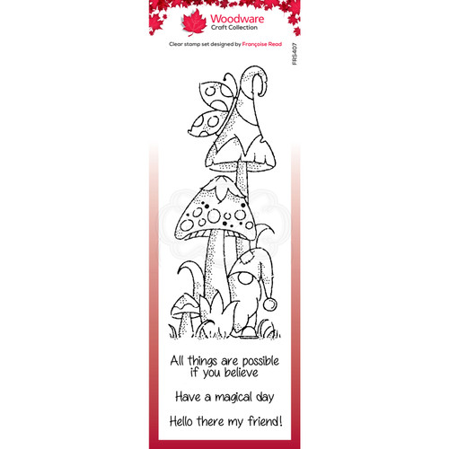 Woodware Magical Mushrooms Stamps