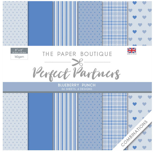 The Paper Boutique Perfect Partners 8×8 Paper Pad – Blueberry Punch