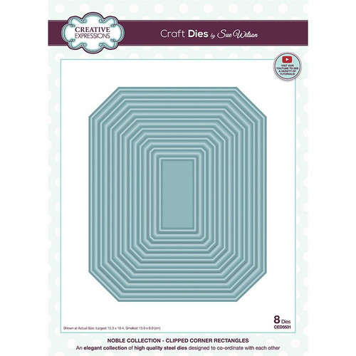 Sue Wilson Noble Clipped Corner Rectangles Craft Die