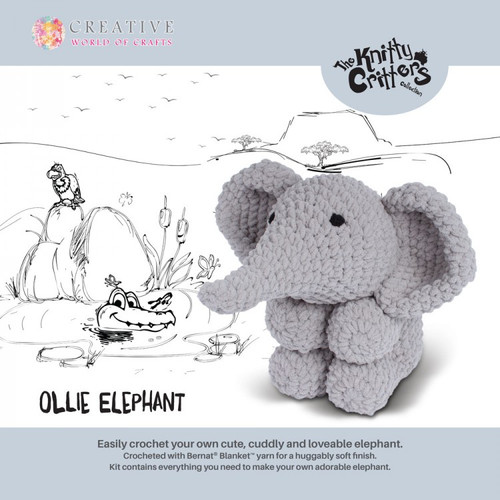 Knitty Critters-Ollie Elephant