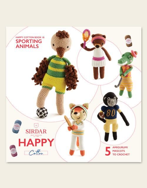 Sirdar Happy Cotton Book 18, Sporting Animals
