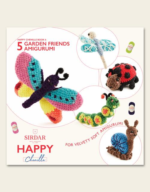 Sirdar Happy Chenille Book 6, Garden Friends