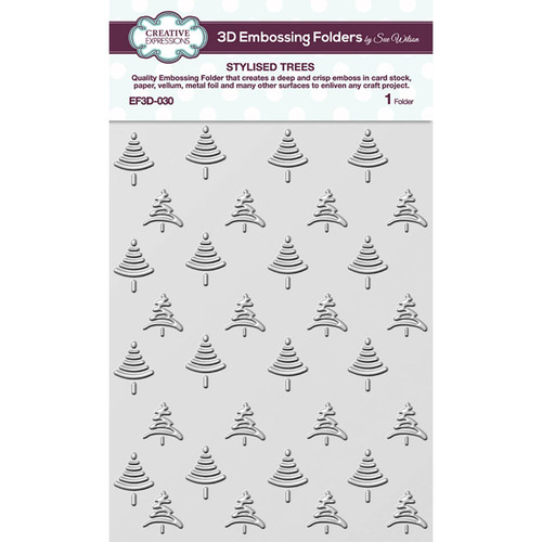 Creative Expressions Stylised Trees 5 3/4 x 7 1/2 3D Embossing Folder