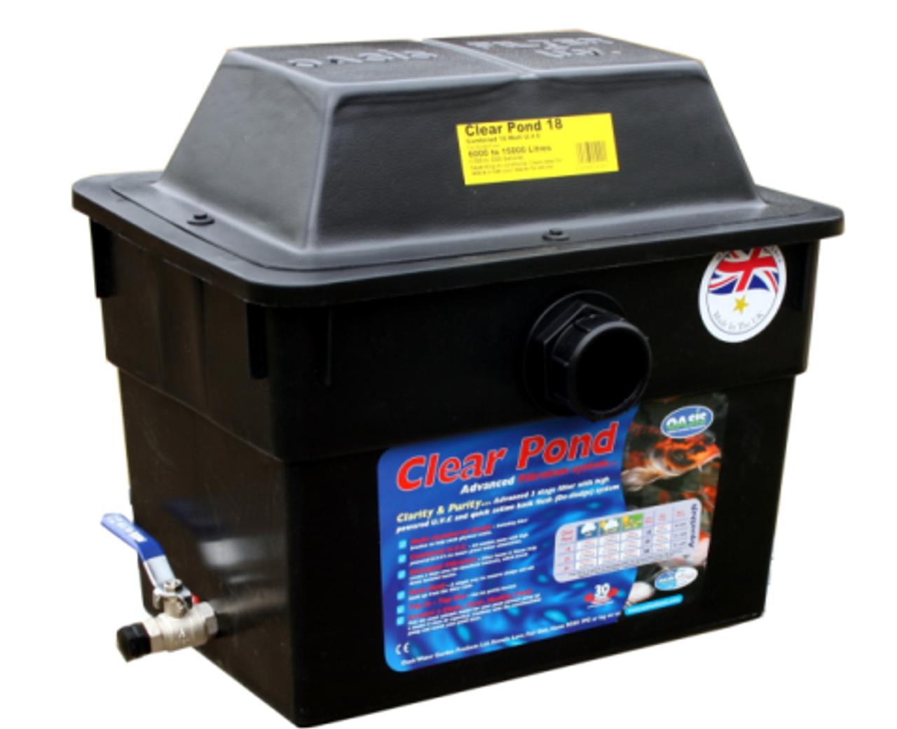 Lotus oasis CLEARPOND advanced 7 étape 18,25,50,80 filtre uv box clear pond fish