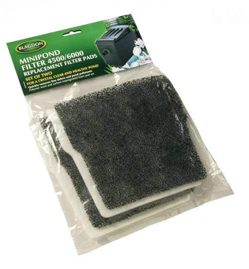 MidiPond 10/14000 Filter Carbon & Wool Replacement (6 Pack)