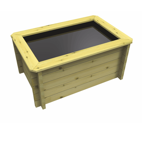 Rectangular Wooden Fish Pond (1.5m x 1m)