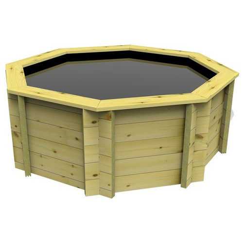 Octagonal Wooden Fish Pond - 6ft