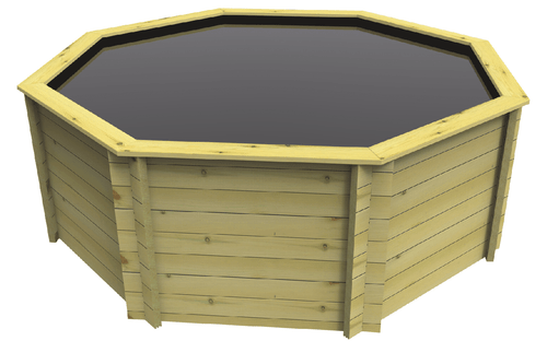 Octagonal Wooden Fish Pond - 10ft