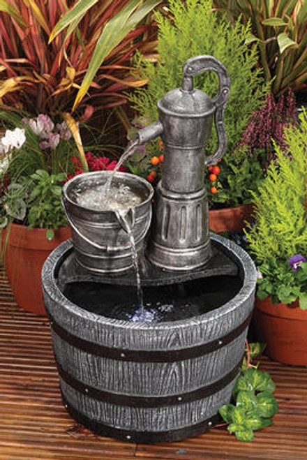 Liberty Vintage Pump And Barrel Water Feature