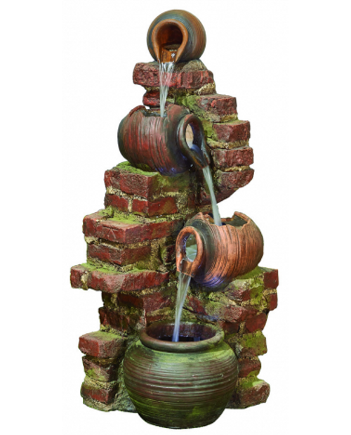 Kelkay Flowing Jugs Water Feature With LED Lighting