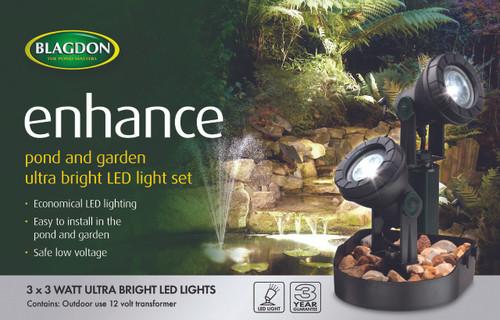 Blagdon Enhance LED Lights 3 x 3 Watt