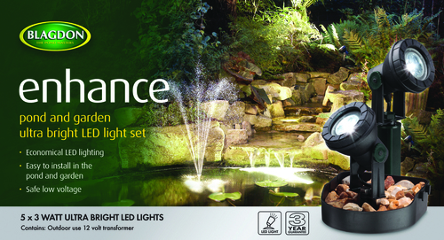 Blagdon Enhance LED Lights 5 x 3 watt