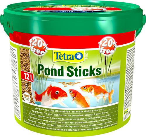 Tetra Pond Sticks 10L / 1200g Bucket + 20% Extra Free