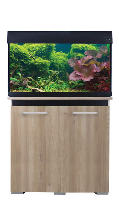 Aqua One AquaVogue 135 Litre Aquarium And Cabinet Nash Oak / Black