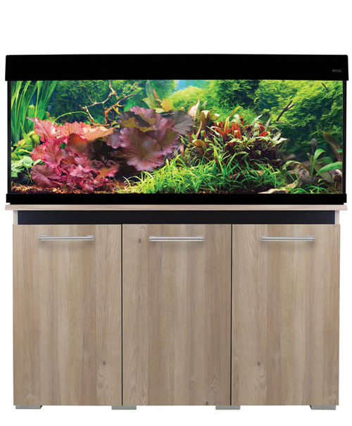 Aqua One AquaVogue 245 Litre Aquarium And Cabinet Nash Oak / Black