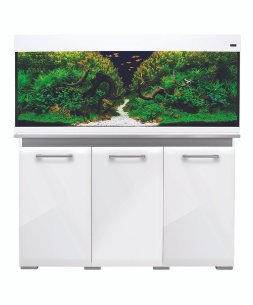 Aqua One AquaVogue 245 Litre Aquarium And Cabinet White Gloss