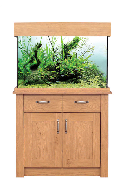 Aqua One Oakstyle Aquarium And Cabinet 145 Litres