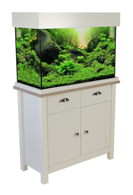 Aqua One Oakstyle Aquarium & Cabinet 145 Litres Soft White