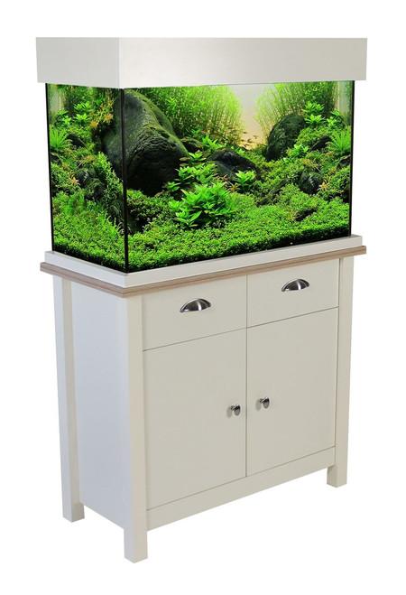 Aqua One Oakstyle Aquarium & Cabinet 145 Litres Soft White