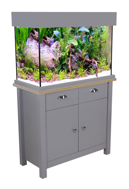 Aqua One Oakstyle Aquarium & Cabinet 145 Litres Flint Grey