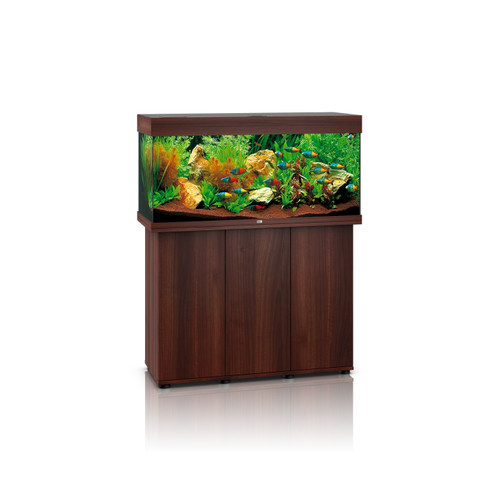 juwel rio 180 dark wood tank and cabinet