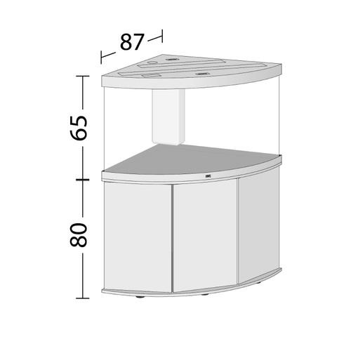 Juwel Trigon 350 dark wood tank and cabinet
