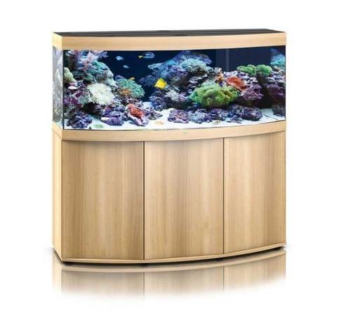 Juwel Vision 450 LED Marine Aquarium And Cabinet Light Wood