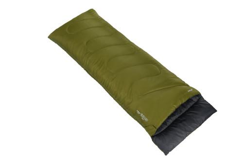 Ember single sleeping bag in herbal green