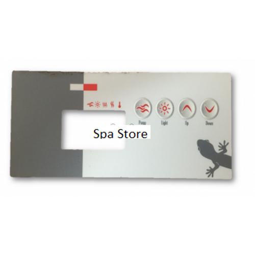 Gecko TSC-19 / K-19 4 Button(1pump no blower) Overlay