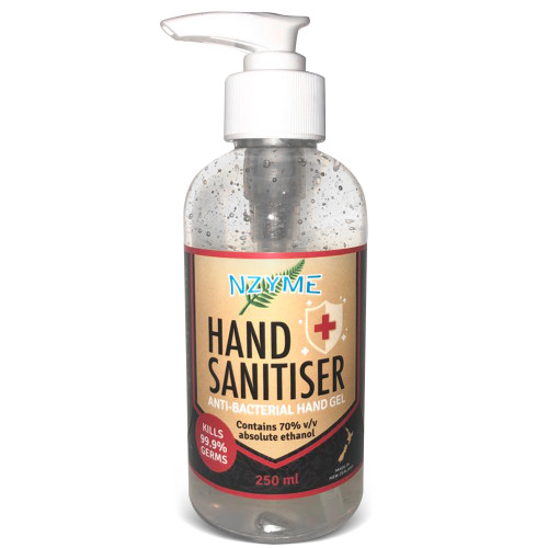 Hand Sanitiser with 70% Alcohol - 250ml
