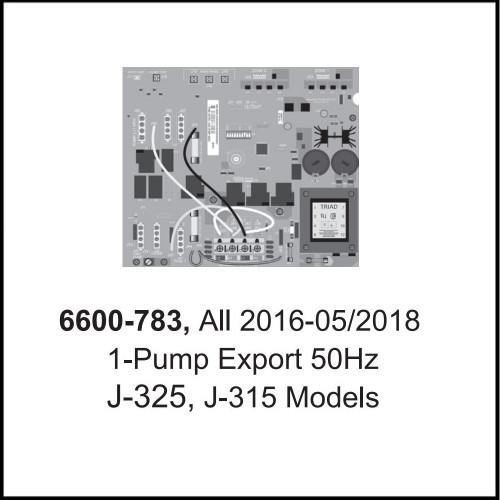 Jacuzzi® Control Circuit Board J-300™ 1-Pump