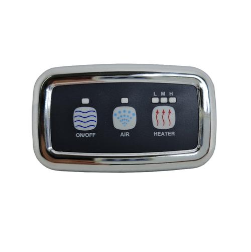 Sensa-Touch & Enhance 3 Button Chrome C/W 2 X 4M Cable