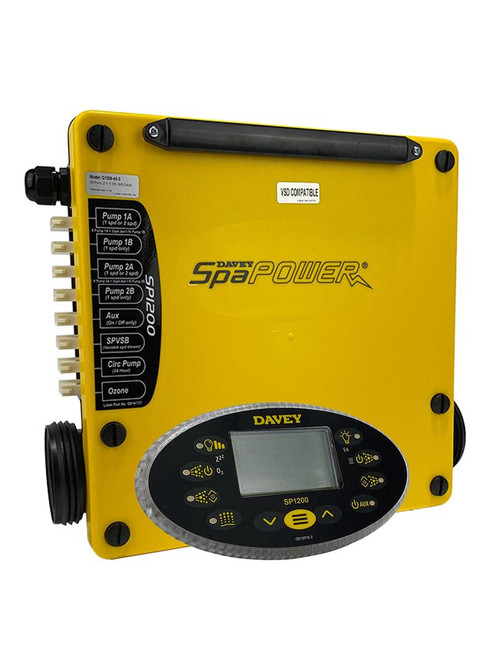 Davey Spa Quip® Spa Power 1200 3.5KW Spa Controller and Oval Touchpad