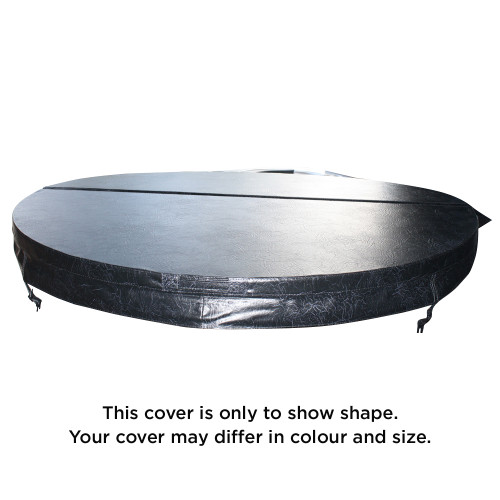 1585mm Generic Round Spa Cover (5 Foot) - Slate