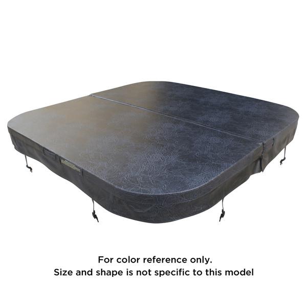 2000 x 2000 R250mm Generic Spa Pool Hard Cover (Charcoal)