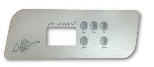 LA Spas TSC-44 5 Button (2 Pump) Overlay