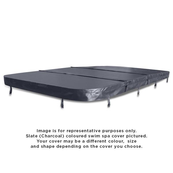5860 x 2310mm Vortex Curve Hydrozone Spa Cover (Slate) R350