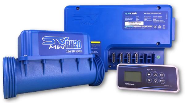 SpaNet® SV Mini 1(2.0Kw) Kit – 2 X 1SP Amp Cord And 2.5″ Light