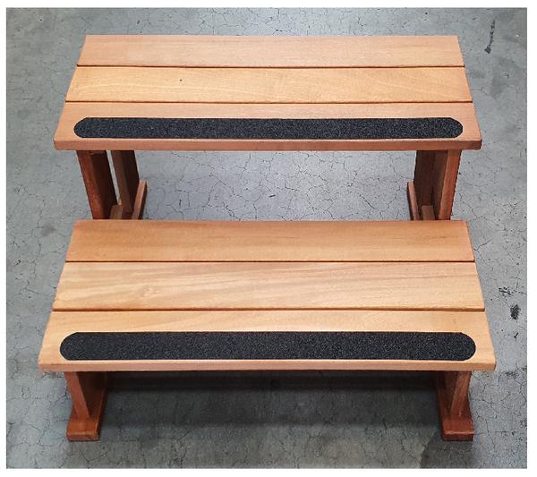Garapa Wood Spa Steps 300x600mm